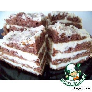 Рецепт: Торт «Зебра»