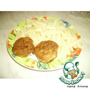 Рецепт: Котлеты из сардин и мясного фарша