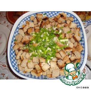 Рецепт: Салат с грибами и фасолью
