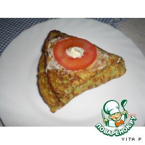 Рецепт: Цуккиневые треугольнички с помидорами