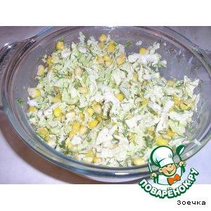 Рецепт: Лeгкий салатик с пекинской капустой