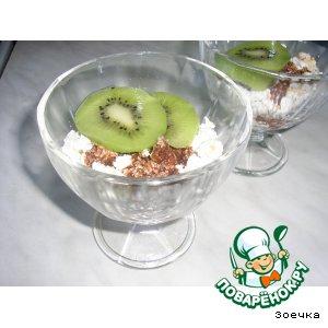 Рецепт: Быстрый десерт из творога и печенья