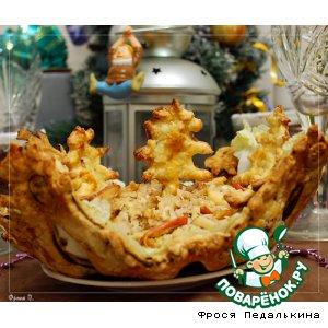 Рецепт: Салат Новогодний в хрустящем салатнике
