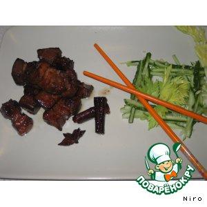 Рецепт Свинина, тушеная по-красному (свинина хуншао)