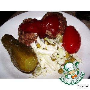 Рецепт: Зразы мясные с шампиньонами
