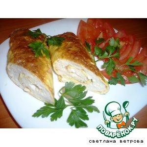 Рецепт: Яично-куриные рулеты Бризоли