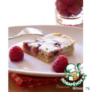 Рецепт: Пирог из творога c домашним вареньем
