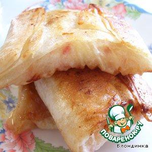 Рецепт: Пирожки из лаваша с яблоками