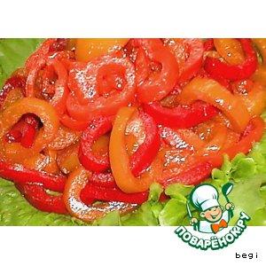 Рецепт: Сладкий салат из перцев