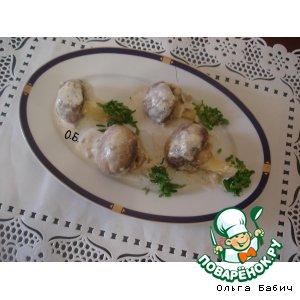 Рецепт: Фаршированные грибы
