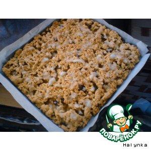 Рецепт: Пирог яблочный с корицей