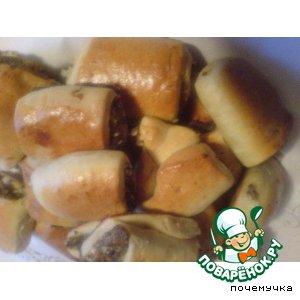 Рецепт: Пирожки с мясом из теста Утопленник