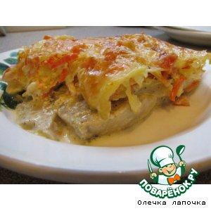 Рецепт: Рыба под овощным одеялом
