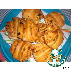 Рецепт Пряные булочки с сыром и чесноком