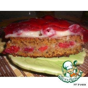 """Рецепт: Вишнeвый торт """"Наслаждение"""""""