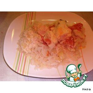 Рецепт: Овощи под рыбой