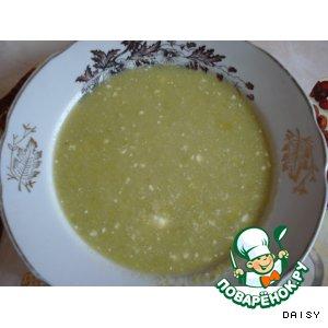 Рецепт: Суп из консервированного зеленого горошка