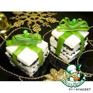 Рецепт: Канапе Подарки для белого тигра