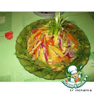 Рецепт: Салат по-американски «Новогодний фейерверк»