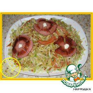 Рецепт: Легкий салатик