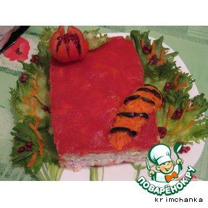 """Рецепт: Мильфей - салат """"Красная книга"""""""