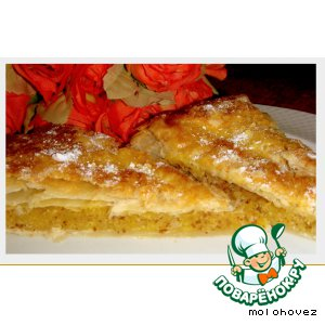 Cake with almond filling