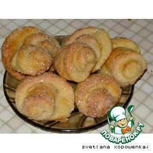 Рецепт: Печенье творожное Вкусняшка