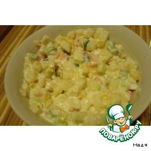 Рецепт: Салат с курицей и ананасами