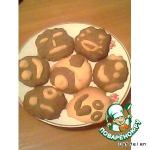 Рецепт: Печенье Веселые мордашки