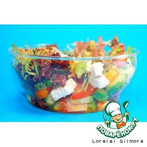 Рецепт: Салат из свежих овощей с фетой