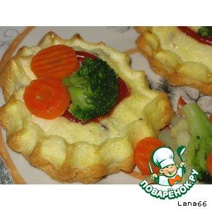 Рецепт: Валентинки с палтусом в сырном суфле