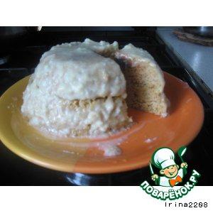 Рецепт: Пятиминутный ореховый тортик без муки и масла