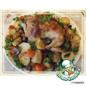 Рецепт: Курица с овощами в рукаве для запекания
