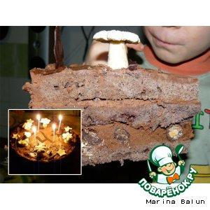 Рецепт: Шоколадный трюфельный торт