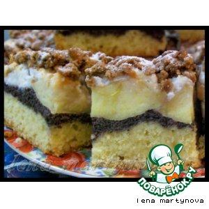 Рецепт: Яблочно-маковый  пирог
