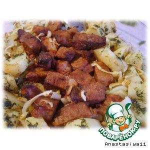Рецепт: Свинина запеченая с медом и горчицей