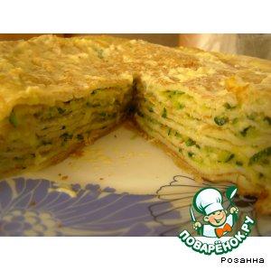 Рецепт Блинный пирог с кабачками