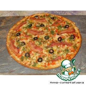 Рецепт: Пицца с беконом