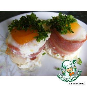 """Рецепт: """"Маффины"""" из бекона и яйца"""