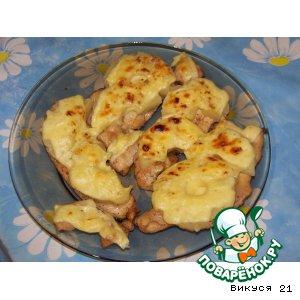 Рецепт: Куриная грудка в соевом соусе с ананасами