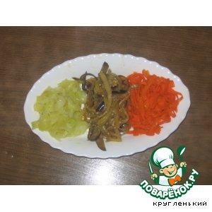 Рецепт: Спагетти цветные из овощей