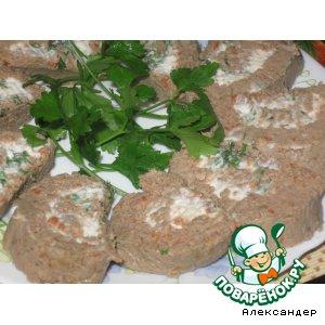Рецепт: Паштет из куриной печени с плавленым сыром