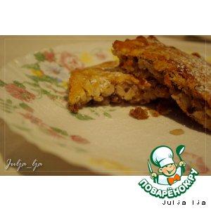 Рецепт: Рисовый пирог-запеканка с орехами и изюмом
