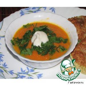 Рецепт: Морковный суп-пюре с апельсином и имбирем