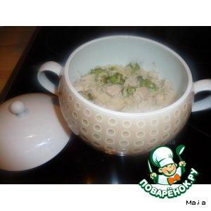 Рецепт: Гуляш из индейки с брокколи