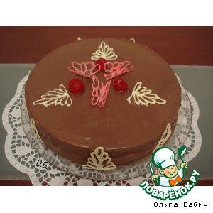 Рецепт: Ананасовый торт с белково-сливочным суфле
