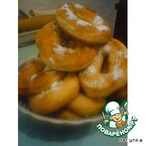 Рецепт: Пончики Полицейские постные