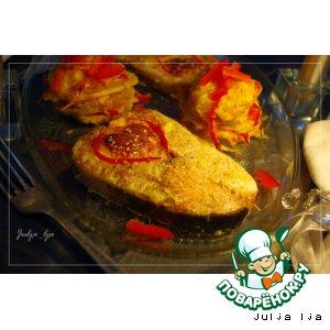 Рецепт: Кета, запечeнная с сырным суфле