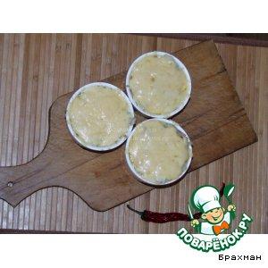 Рецепт: Жульен с мидиями и креветками