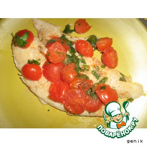 Рецепт: Рыба с помидорами черри